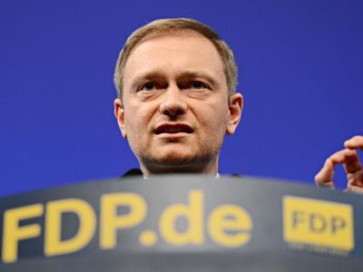 Der FPD-Vorsitzende Christian Lindner spricht in Stuttgart beim traditionellen Dreikönigstreffen seiner Partei. Foto: Franziska Kraufmann