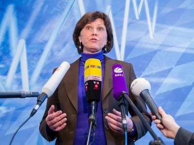 Die bayerische Wirtschaftsministerin Ilse Aigner in München auf einer Pressekonferenz. Foto: Marc Müller