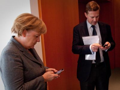 Angela Merkel und Steffen Seibert