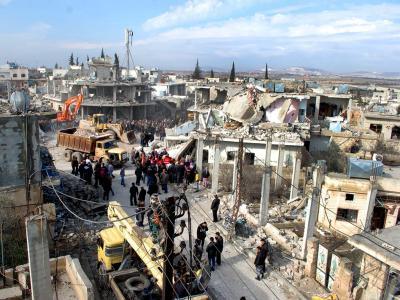 Bei der Explosion einer Autobombe im syrischen Hama, Syrien, wurden mindestens 18 Menschen getötet. Foto: Str