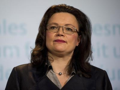 Arbeitsministerin Nahles will zur Renten-Verbesserung Steuergelder nehmen. Foto: Daniel Naupold
