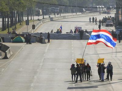 Die Demonstranten haben friedliche Proteste versprochen, die Sicherheitskräfte wollen mit Zurückhaltung agieren. Foto: Narong Sangnak