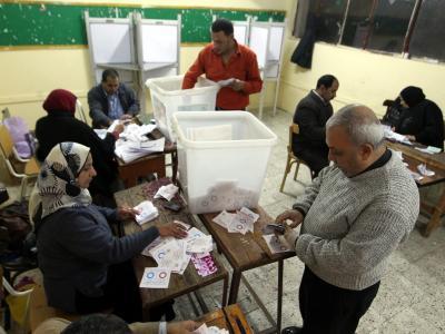 Nach dem Boykottaufruf der Muslimbrüder ist die Wahlbeteiligung nicht sehr hoch gewesen. Foto: Khaled Elfiqi