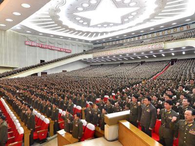 Nordkoreanische Militärs während einer Zusammenkunft in Pjöngjang: Auf der koreanischen Halbinsel zeichnen sich leichte Entspannungen ab. Foto: Rodong Sinmun