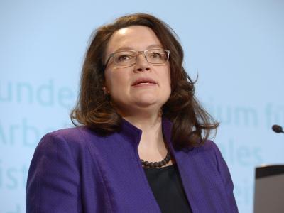 Arbeitsministerin Andrea Nahles. Foto: Rainer Jensen