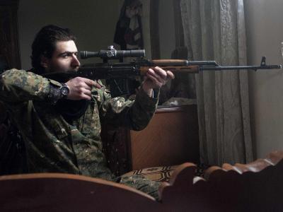 Rebell in Aleppo