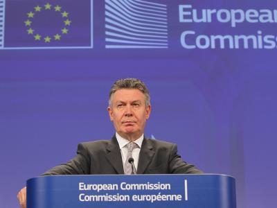 EU-Handelskommissar Karel De Gucht während einer Pressekonferenz. Foto: Julien Warnand