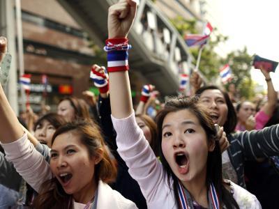 Die Demonstranten wollen die Regierung stürzen und die Wahl am 2. Februar verhindern. Foto: Rungroj Yongrit
