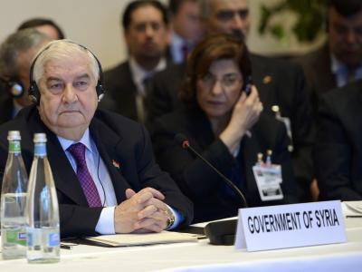 Der syrische Außenminister Walid al-Muallim erklärte: «Diese Konferenz kann nicht erfolgreich sein, denn Politik und Terrorismus gehen nicht zusammen.» Foto:Martial Trezzini