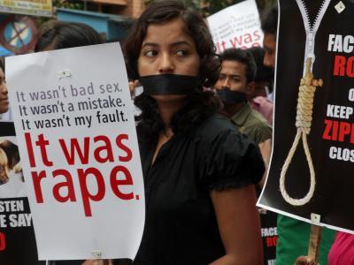 Proteste gegen Vergewaltigungen in Indien. Foto: Piyal Adhikary