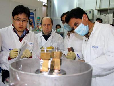 IAEA-Team in der Anlage zur Urananreicherung im iranischen Natanz. Foto: Kazem Ghane