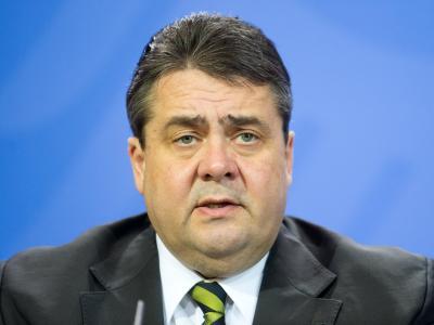 Bundeswirtschaftsminister Sigmar Gabriel beim Abschluss der Klausurtagung des Bundeskabinetts im brandenburgischen Meseberg. Foto: Maurizio Gambarini