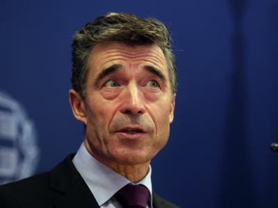 NATO-Generalseketär Anders Fogh Rasmussen ruft die Konfliktparteien zu Zurückhaltung auf. Foto: Simela Pantzartzi