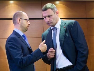 Die Vertreter der ukrainischen Opposition, Arseni Jazenjuk und Vitali Klitschko. Foto: Maurizio Gambarini