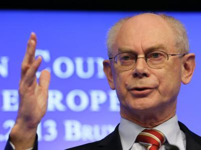 EU-Ratspräsident Herman Van Rompuy ruft die Konfliktparteien zum Dialog auf. Foto: Julien Warnand