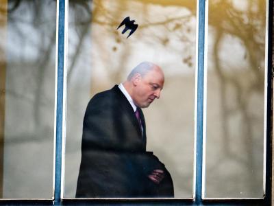 Olaf Glaeseker, ehemaliger Sprecher von Ex-Bundespräsident Wulff, im Landgericht Hannover. Foto: Julian Stratenschulte