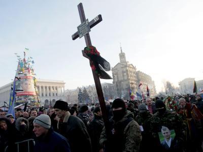 Prozession auf dem Maidan