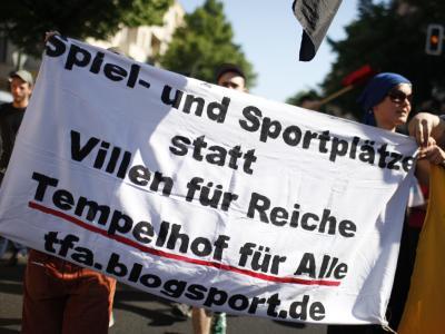 """Demonstration """"Tempelhof für alle"""""""