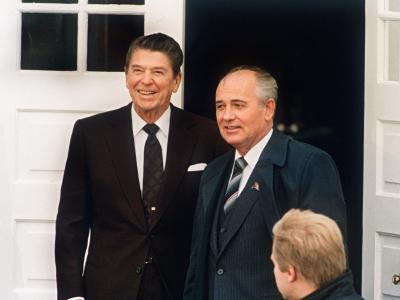 Reagan und Gorbatschow