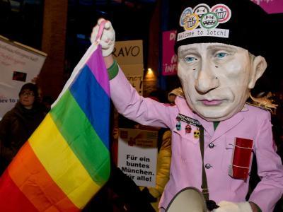 Demo f�r Homosexuellen-Rechte