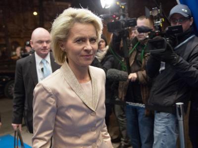 Bundesverteidigungsministerin Ursula von der Leyen (CDU) bei der 50. Sicherheitskonferenz. Foto: Tobias Kleinschmidt/Munich Security Conference