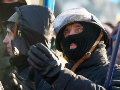 Die Opposition in Kiew fordert Janukowitschs Rücktritt. Foto: Sergey Dolzhenko