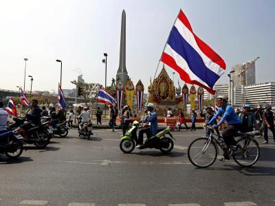 Die Regierungsgegner in Thailand bleiben hartnäckig. Foto: Nyein Chan Naing