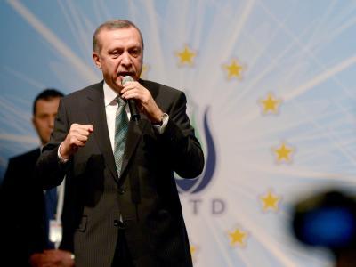Auf die stockenden EU-Beitrittsverhandlungen ging Erdogan nur am Rande ein. Foto: Rainer Jensen