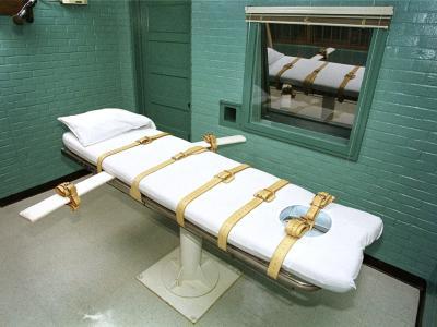 Hinrichtungsraum in einem Gefängnis im US-Bundesstaat Texas. Foto: Paul Buck/Archiv