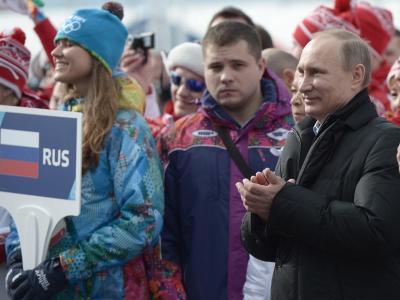 Bühne für Putin