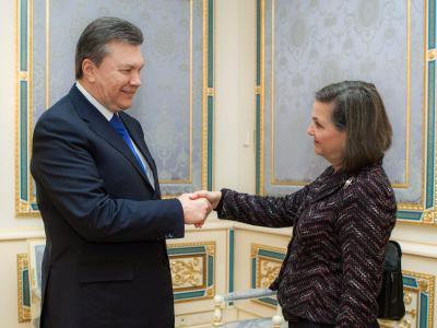 US-Top-Diplomatin Victoria Nuland zu Gast bei Viktor Janukowitsch. Foto: Mykhailo Markiv