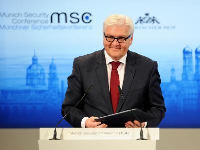 Bundesaußenminister Steinmeier am vergangenen Samstag während der Sicherheitskonferenz in München. Foto: Tobias Hase