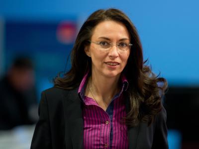 SPD-Generalsekretärin Yasmin Fahimi. Foto: Soeren Stache