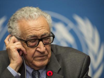 Vor der zweiten, von UN-Vermittler Lakhdar Brahimi geleiteten Verhandlungsrunde hält sich der Optimismus in Grenzen. Foto: Jean-Christophe Bott