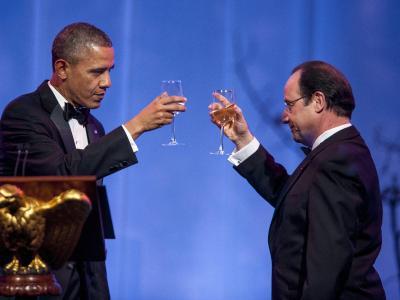 Zwischen den USA und Frankreich läuft es wieder rund. Das feierten beide Präsidenten mit einem pompösen Staatsbesuch in Washington. Foto: Pete Marovich