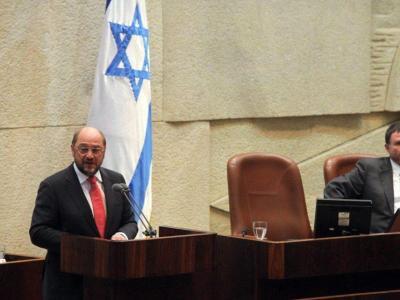 Schulz sprach im israelischen Parlament auf Deutsch. Foto:Knesset Spokesman Office