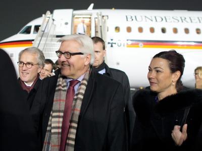 Bundesaußenminister Frank-Walter Steinmeier zu Besuch in Moskau. Foto: Bernd von Jutrczenka