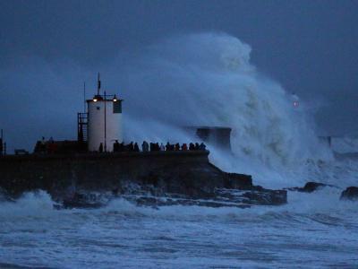 Sturm an der britischen Küste