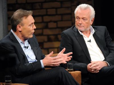 Thomas Oppermann (l.) und FDP-Vize Wolfgang bei der Polit-Talkshow