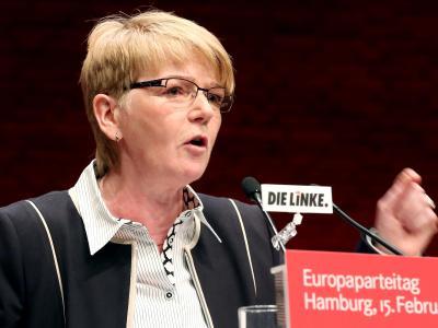 Gabi Zimmer ist zur Spitzenkandidatin für die Europawahl gewählt worden. Gegenkandidaten gab es nicht ... Foto: Bodo Marks