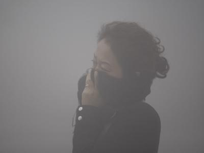 Atmen durch den Schal