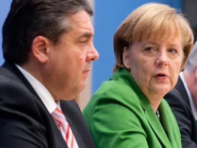 «Die Bundeskanzlerin hat volles Vertrauen in ihren Stellvertreter und den Wirtschaftsminister»: Kanzlerin Merkel und ihr Vize Gabriel. Foto: Kay Nietfeld/Archiv