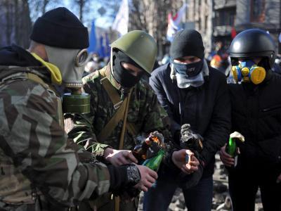Die Wut vieler Demonstraten, die seit Monaten im Stadtzentrum in Zelten ausharren, ist gewaltig. Foto: Alexey Furman