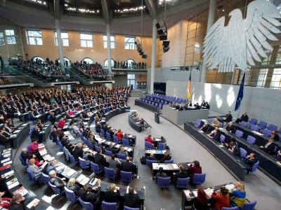 Die aktuelle Entwicklung in der Ukraine ist heute Thema im Bundestag. Foto: Maurizio Gambarini