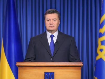 Der ukrainische Präsident Janukowitsch hat einem Waffenstillstand zugestimmt. Zudem soll über ein Ende der Krise verhandelt werden. Foto: Andriy Mosienko