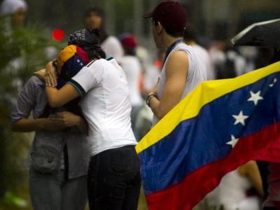 Venezuelas Studenten gehen weiter auf die Straße. Sie fordern ein Ende der Misswirtschaft und mehr Sicherheit. Foto Miguel Gutierrez Foto: Miguel Gutierrez