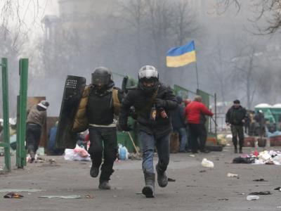 Flucht aus der Gefahrenzone. Foto: Maxim Shipenkov