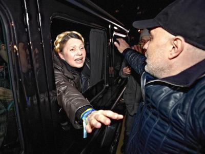 Die ukrainische Oppositionsführerin Julia Timoschenko ist nach zweieinhalb Jahren Haft wieder frei. Foto: Sergey Kozlov