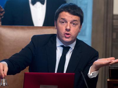 Bekannt ist als «der Verschrotter», weil er die alte Politikerkaste abschaffen will: Der neue Premier in Italien, Matteo Renzi. Foto: Claudio Peri