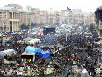 Maidan Nesaleschnosti - der Platz der Unabhängigkeit in Kiew. Foto. Igor Kovalenko Foto: Igor Kovalenko